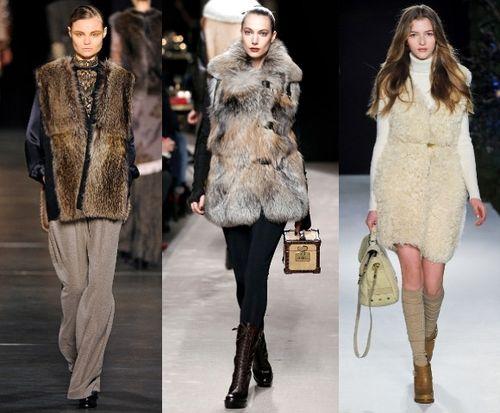 Какие модные меховые жилеты в тренде этого сезона