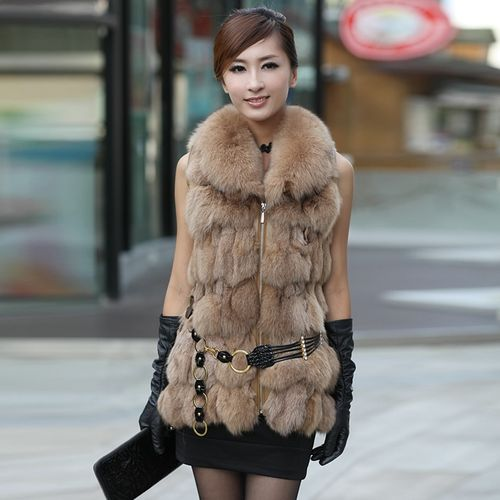 Кожаный жилет с мехом для изысканных модниц