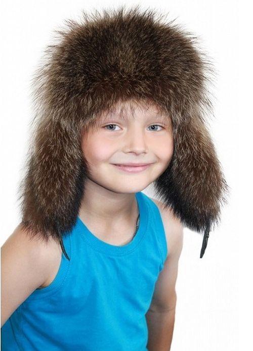 Детские меховые шапки зимние для мальчиков и девочек 9a824ca951141