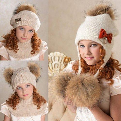 Модные модели детских меховых шапок
