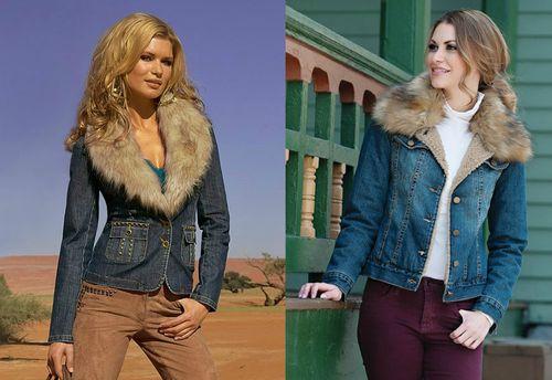 Подбираем мужскую и женскую джинсовую куртку с мехом