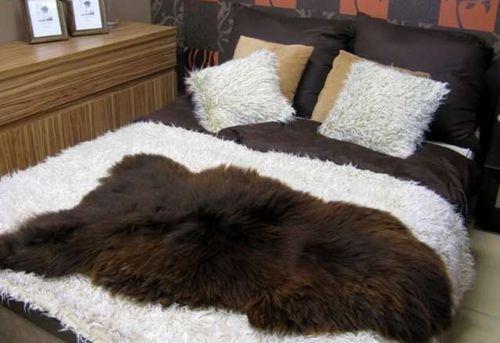 Меховое покрывало для кровати