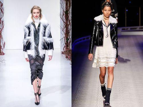 Модели модных курток с меховым воротником