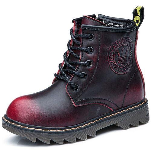 Кожаный ботинок