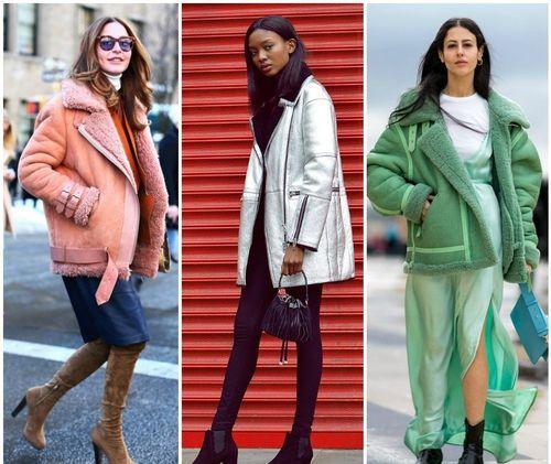 Цветные дубленки — модные новинки сезона
