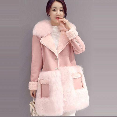 Розовая дубленка — стильная модель для ярких леди