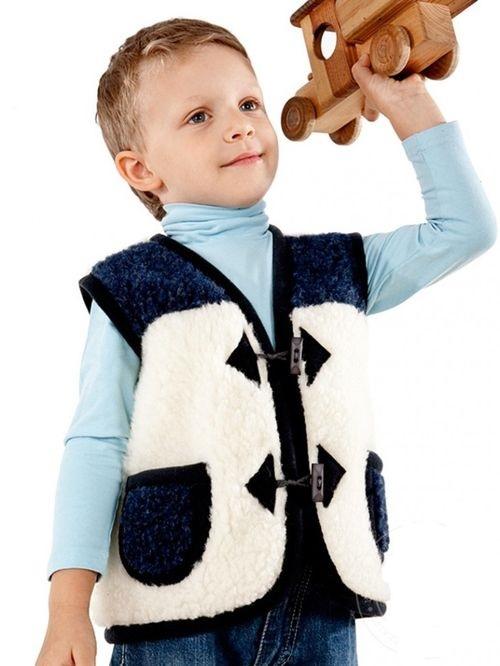 Модные детские меховые жилетки