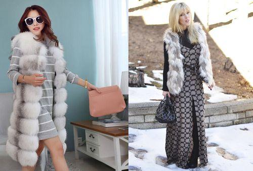 С чем носить меховую жилетку: модные сочетания