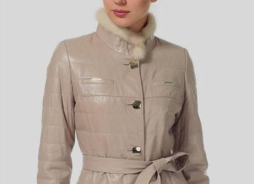 Модные модели дубленок с воротником-стойка